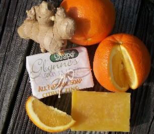 All Natural Citrus Zing - Orange Ginger Soap