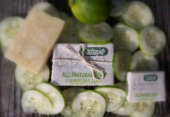 All Natural Soap California Cool - Cucumber and Lime
